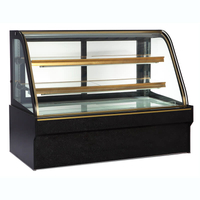 2018 Most Popular Baker Supermarket Refrigerator with Three-layer Glass Sliding Door