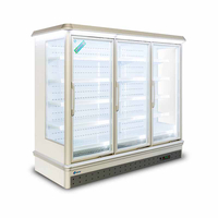 Professionally Manufactured Supermarket Upright Freezer/chiller with Three-layer Glass Door